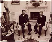General Prem with President Ronald Regan